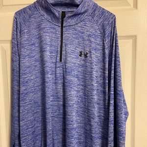 Royal Blue and Black Under Armour 3/4 Zip Pullover